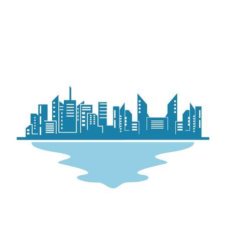 real estate modern city building vector template design