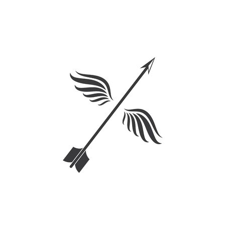 Arrow archery icon vector illustration Logo Template design 向量圖像