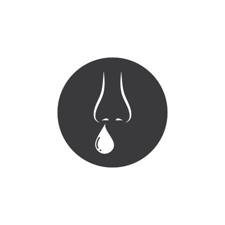 flu nose vector icon illustration design