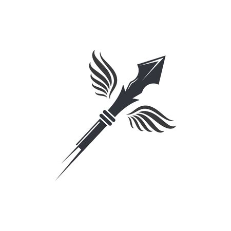 spear icon vector illustration design template  イラスト・ベクター素材