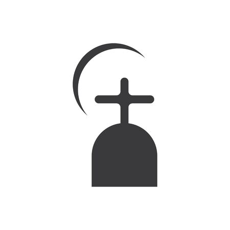 gravestone vector illustration design template