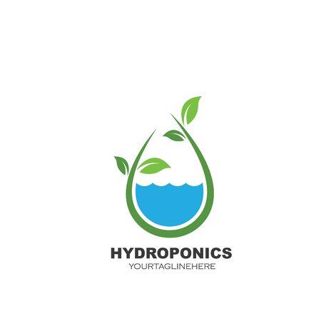 hydroponics logo vector illustration design template Vettoriali