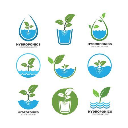 hydroponics logo vector illustration design template Logo