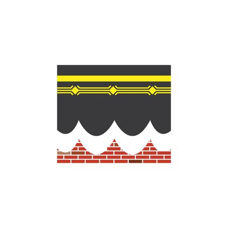 kaaba vector icon illlustration design temlate