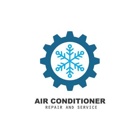 modèle de conception d'illustration d'icône de vecteur de réparation et de service de climatiseur