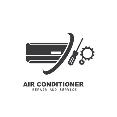 airconditioner repair and service vector icon illustration design template Vecteurs