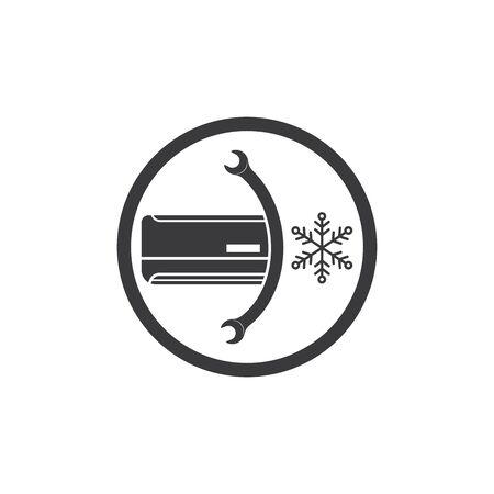 modèle de conception d'illustration d'icône de vecteur de réparation et de service de climatiseur Vecteurs