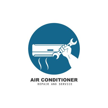 airconditioner repair and service vector icon illustration design template
