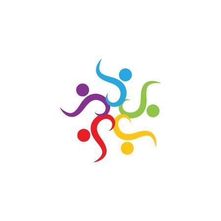 le caractère de la conception de l'icône du logo de la communauté, du réseau et des personnes sociales Logo