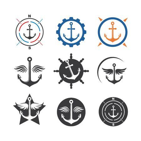 Anchor icon Logo vector illustration design Logos