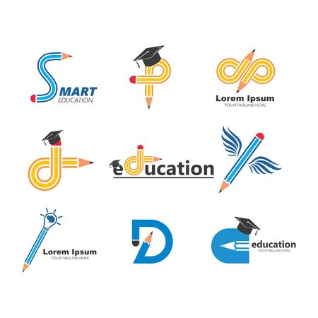 pencil vector illustration icon and logo of education design