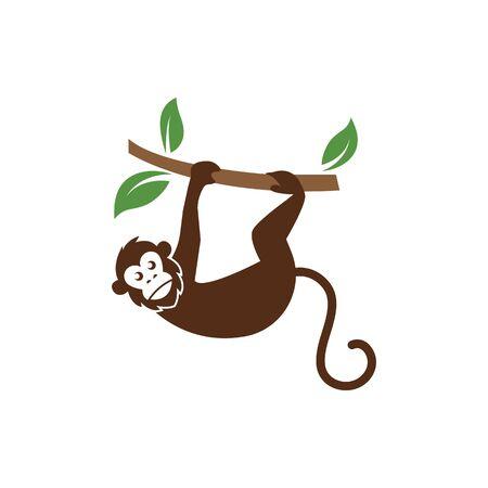 monkey vector logo icon illustration design template Logo