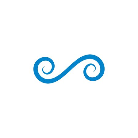 vortex wind  logo icon vector design  template