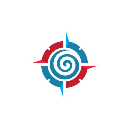 vortex wind compass concept   logo icon vector design  template