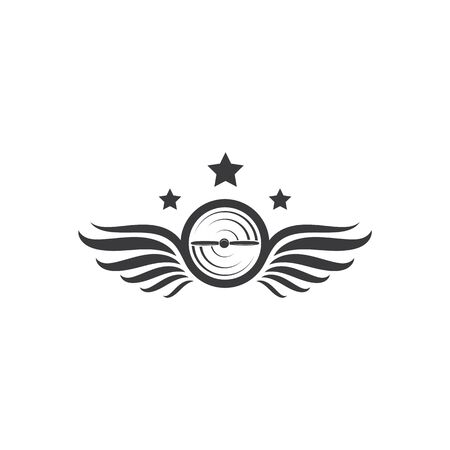 aviation logo  vector illustration design template