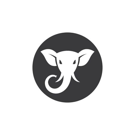 elephant logo vector icon illustration design
