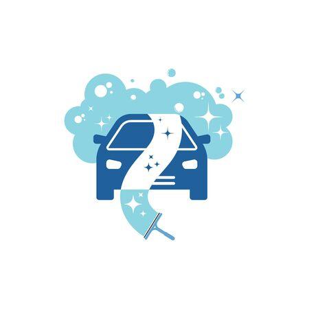 carwash vector icon illustration design template Illustration