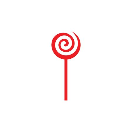 lollipop candy vector icon illustration design