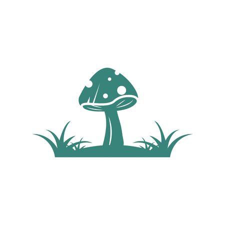 mushroom vector illustration icon design template