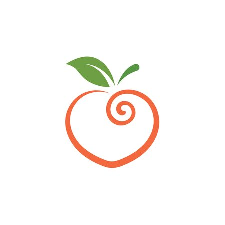 peach fruit icon vector illustrtion concept  design template