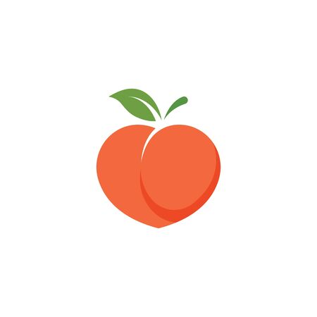peach fruit icon vector illustrtion design template Stock Illustratie