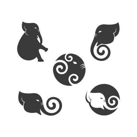 elephant logo vector icon illustration design Logos