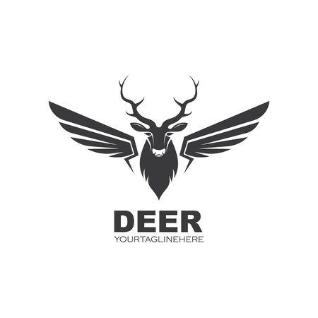 Deer ilustration icon vector design template  イラスト・ベクター素材