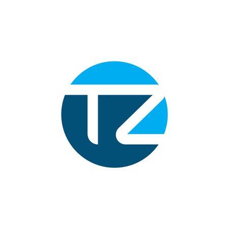 tz letter vector icon illustration design template