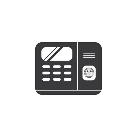 fingerprint scanner machine icon vector illustration design template