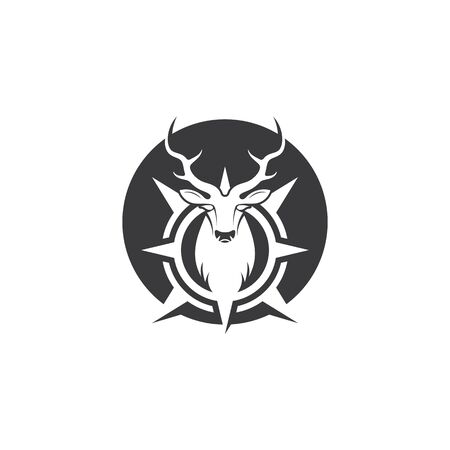 Deer ilustration icon vector design template Vectores