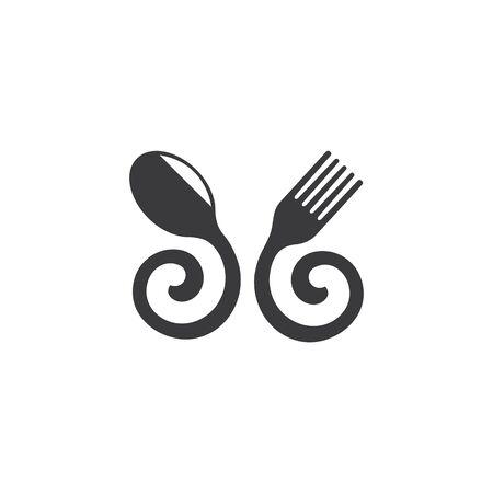 fork,spoon logo icon vector illustration template