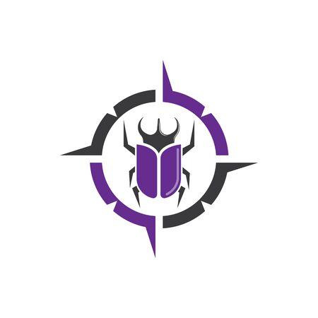 beetle icon vector illustration design template 일러스트