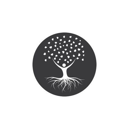 leve heart  tree concept vector illustration design template 일러스트