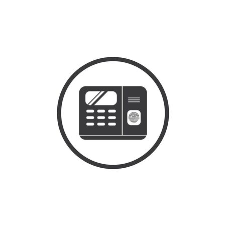 fingerprint scanner machine icon vector illustration design template