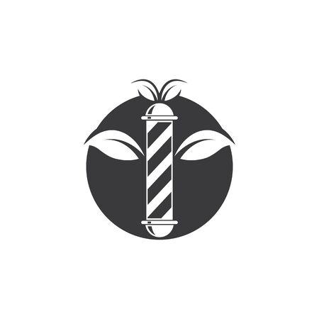 eco barber shop icon logo vector icon template