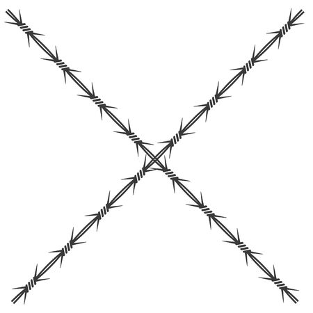 barbed wire vector illustration design template 일러스트