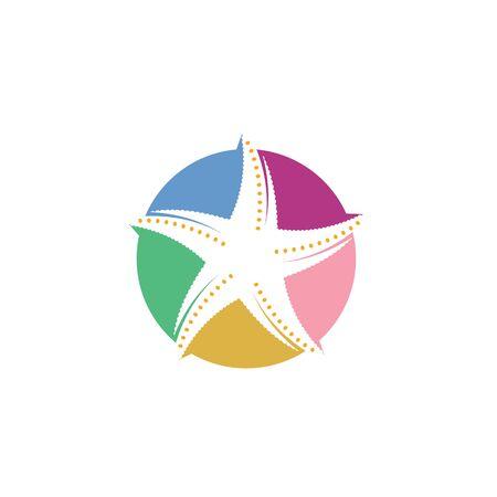 starfish vector illustration design template