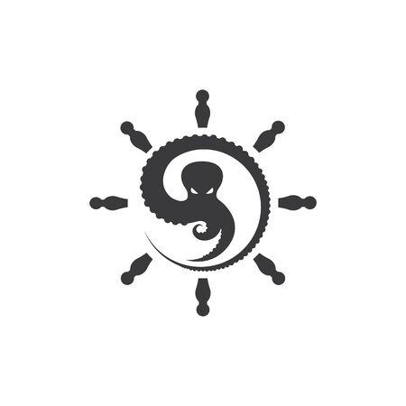 octopus icon logo vector illustration design template