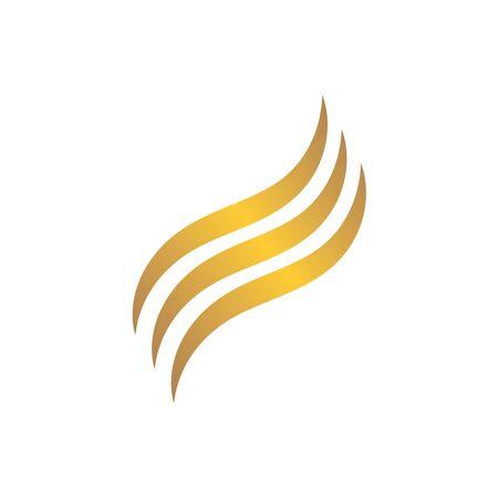 hair wave icon vector illustratin design symbol of hairstyle and salon 일러스트