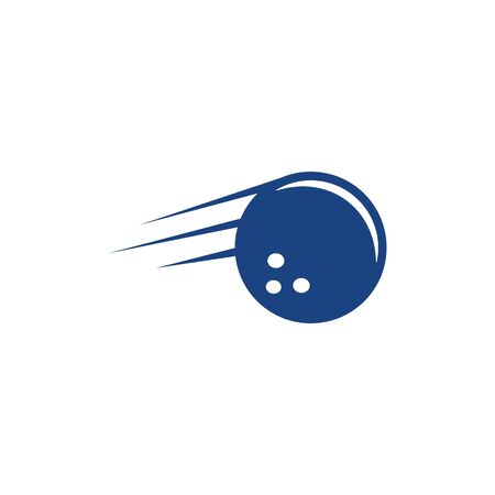 bowling baall vector icon illustration design template