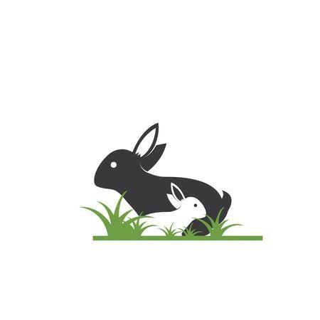 Rabbit Logo template vector icon illustration design 일러스트