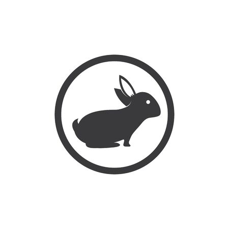 Rabbit Logo template vector icon illustration design  イラスト・ベクター素材