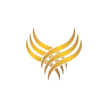 hair wave icon vector illustratin design symbol of hairstyle and salon  イラスト・ベクター素材