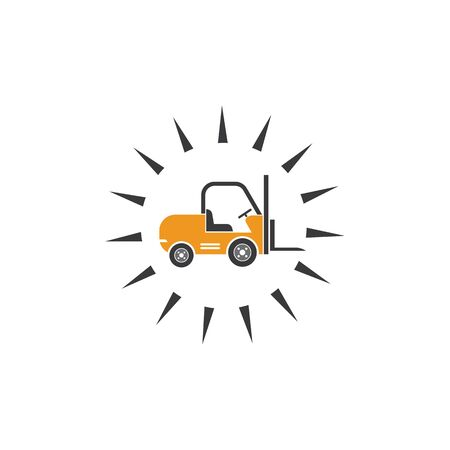 forklift icon vector illustration design template 일러스트