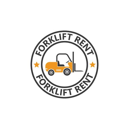 forklift icon vector illustration design template Illustration