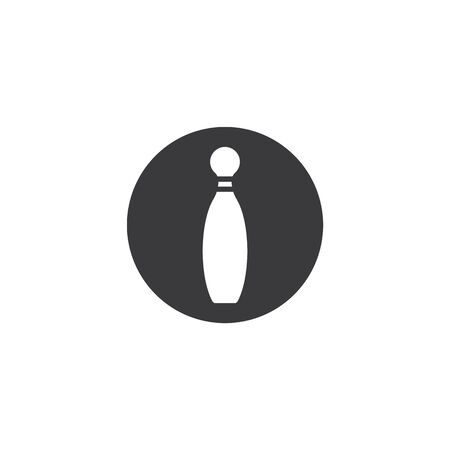 bowling pin vector icon illustration design template