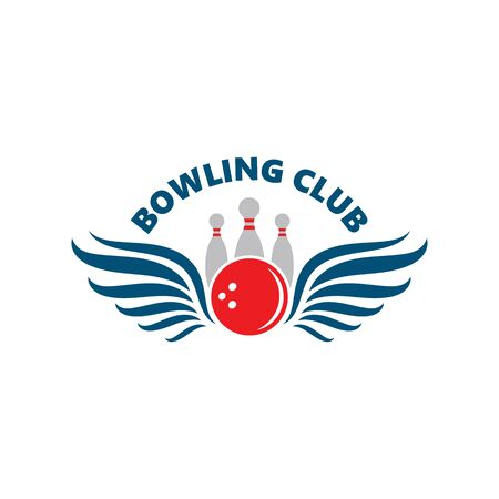 bowling vector icon illustration design template Illustration