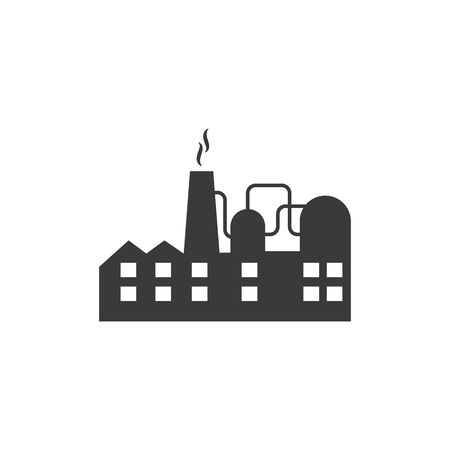 industrial factory building icon vector illustration design template