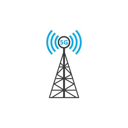 5g tower signal logo icon vector illustration design