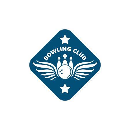 bowling vector icon illustration design template  イラスト・ベクター素材